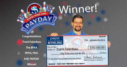 Pepsi Pins & Payday Winner 2012