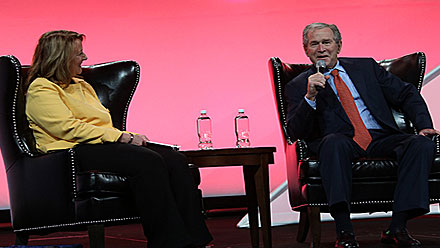 Historic Moment for Bowling: Former US President George W. Bush Participates in Roundtable Discussion at International Bowl Expo 2014