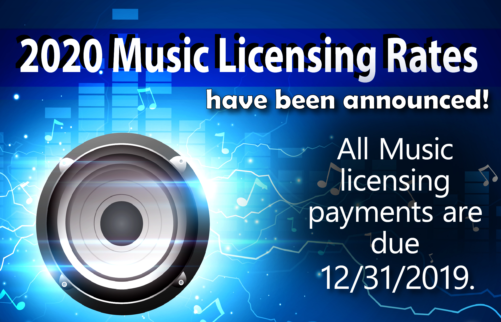 Music Licensing Announcement